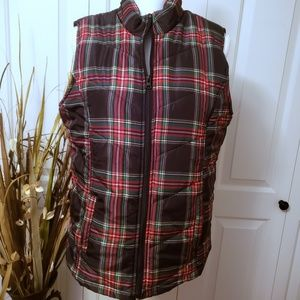 Jason Maxwell Black plaid quilted vest